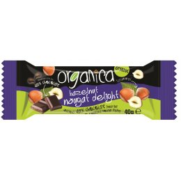 Organica Hazelnut Nougat Dark Chocolate - 40g