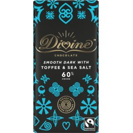Divine 60 percent  Dark Chocolate with Toffee & Sea Salt - 90g