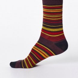 Thought Mens Marshland Bamboo Socks - Aubergine