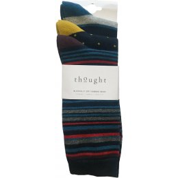 Thought Mens Stripes Bamboo Socks - Pack of 3
