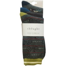 Thought Mens Travel Bamboo Socks - Pack of 3