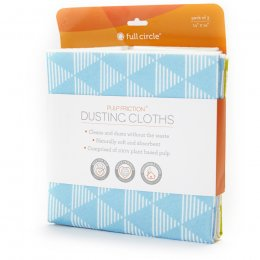 Full Circle Pulp Friction Geo Design Dusting Cloths - Pack of 3