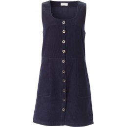 Nomads Navy Button Front Pinafore