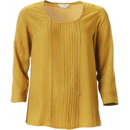 Nomads Pin Tuck Top - Caramel