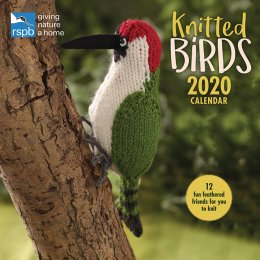 RSPB Knitted Birds 2020 Wall Calendar