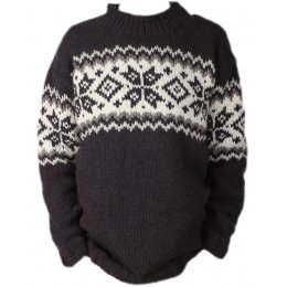 Mens Yukon Sweater - Charcoal