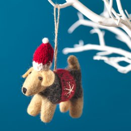 Hanging Christmas Tree Decoration - Brian Dog