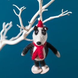 Hanging Christmas Decoration - Badger