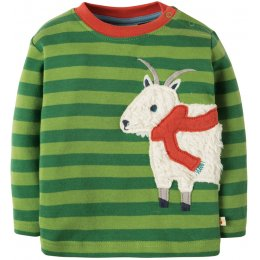 Frugi Little Discovery Applique Top - Goat