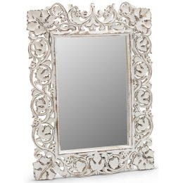 Carved Whitewash Mirror