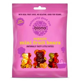 Biona Organic Mini Fruit Jelly Bears - 75g