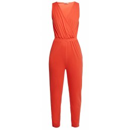People Tree Fiery Red Amity Jumpsuit