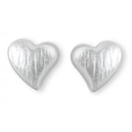 Kashka London Childrens Hope in My Heart Silver Earrings