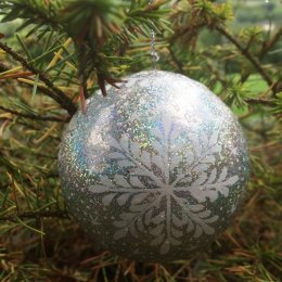 Dalit Silver Snowflake Baubles - Set of 5