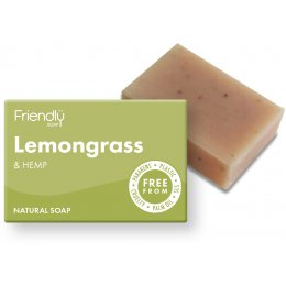 Friendly Soap Lemongrass & Hemp Bath Soap - 95g
