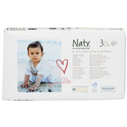 Naty by Nature Babycare Nappies Economy Pack x 52 - Small 3