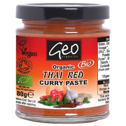 Geo Organics Thai Red Curry Paste - 180g
