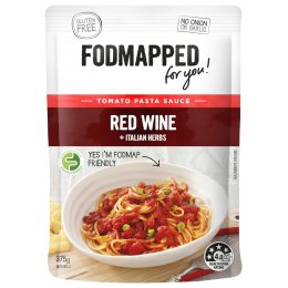 Fodmapped Tomato & Red Wine Pasta Sauce