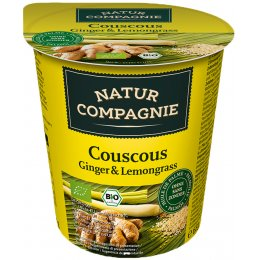 Natur Compagnie Organic Couscous Ginger & Lemongrass Snackpot - 68g