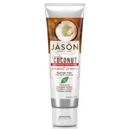 Jason Coconut Cream Whitening Fluroride Free Toothpaste - 119g