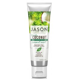 Jason Coconut Mint Strengthening Fluoride Free Toothpaste - 119g