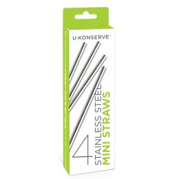 U-Konserve Stainless Steel Mini Straws - Set of 4