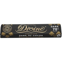 Divine 70 percent  Dark Chocolate Bar - 35g