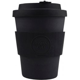 Ecoffee Reusable Bamboo Coffee Cup - Black - 340ml