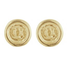 Kashka London Push my buttons  Earrings gold plated