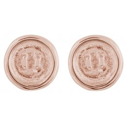 Kashka London Push my buttons  Earrings rose gold plated