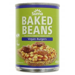 Suma Baked Beans and Vegan Burgers - 400g