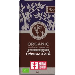 Equal Exchange 88 percent  Organic Extreme Dark Chocolate - 80g