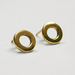 Made Brass Circle Stud Earrings