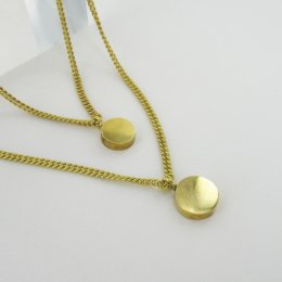Made Brass Double Dot Layered Necklace