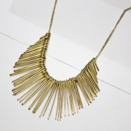 Made Brass Large Spike Necklace