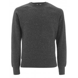 Organic Cotton Raglan Sweatshirt - Black Twist