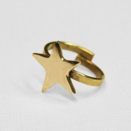 Made Brass Adjustable Star Ring