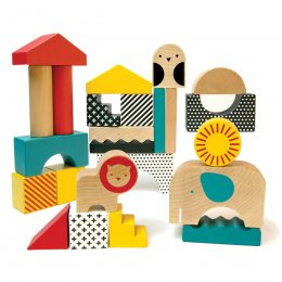 Petit Collage Animal Town Wood Blocks