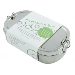 A Slice of Green Stainless Steel Oval Lunch Box with Mini Container
