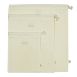 A Slice of Green Organic Cotton Produce Bags - Set of 3