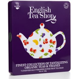 English Tea Shop Organic Super Fruit Gift Tin - 72 bags