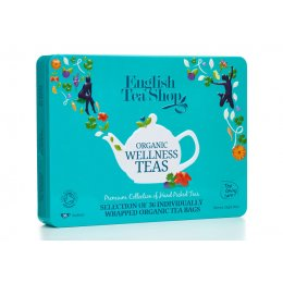 English Tea Shop Organic Tea Loving Care Wellness Gift Tin - 36 bags