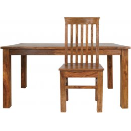 Mallani Large Table with 8 Chairs - with Delhi Chairs