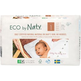 Eco By Naty Disposable Nappies Size 1 - Newborn - Pack of 25