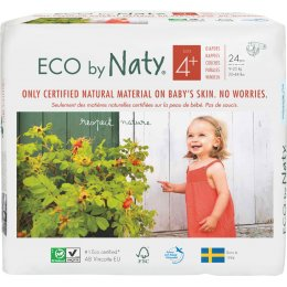 Eco By Naty Disposable Nappies Size 4  - Maxi Plus - Pack of 24
