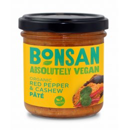 Bonsan Cashew & Bell Pepper Vegan Pate - 130g