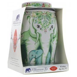 Williamson Tea Christmas Blend Winter Wreath Elephant Gift Caddy - 40 Teabags