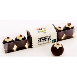 Cocoa Loco Handmade Christmas Pudding Truffles - Box of 6