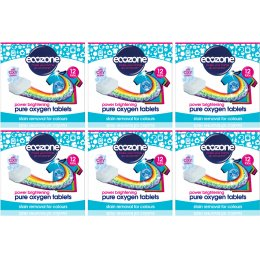 Ecozone Colour Oxygen Laundry Tablets Kit - 6 x 12