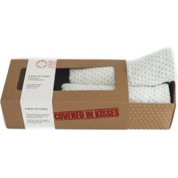 From Babies with Love A Box of French Grey Kisses Muslin Square Gift Set
